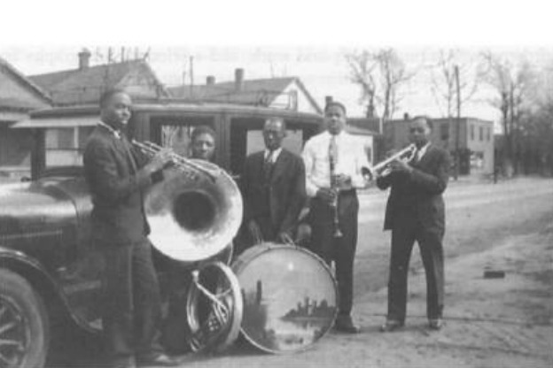 Belford Hendricks and an early band.