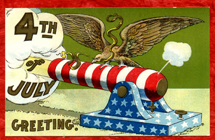 Fourth of July postcard