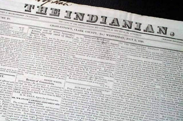 Indiana newspaper
