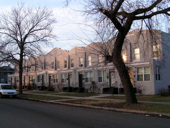 concrete row houses in Gary
