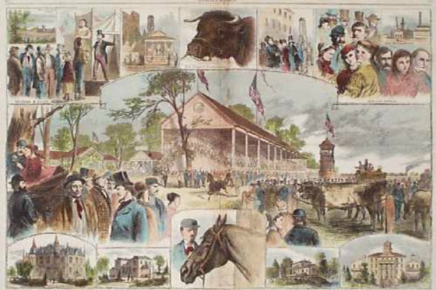 colored engraving of the Indiana State Fair 1867
