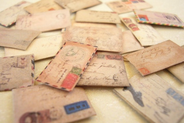 scattered vintage envelopes