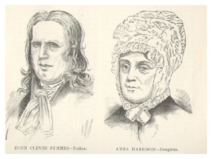 Engraved portraits of John Cleve Symmes and Daughter Anna Symmes Harrison