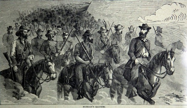 Morgan's Raiders in a vintage lithograph