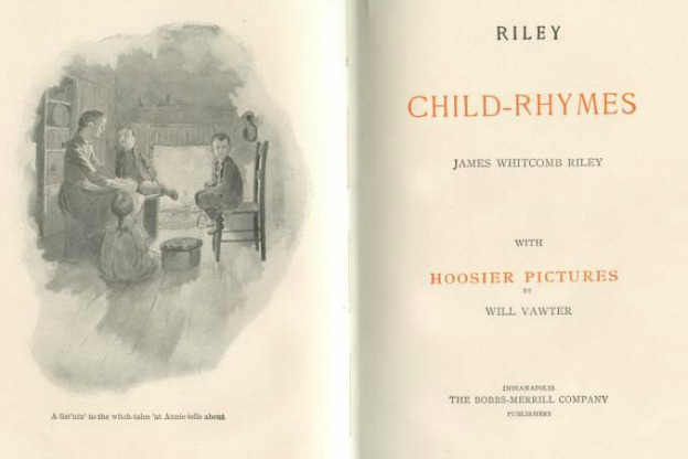 Riley Child-Rhymes, title page and frontispiece