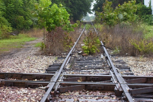 abandoned railroad tracks