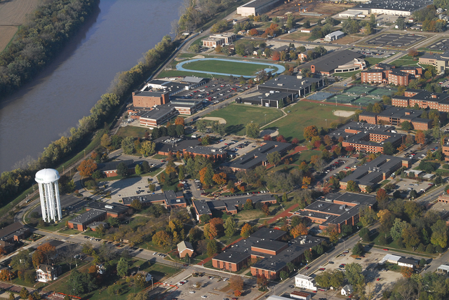 aerial view of Vincennes University