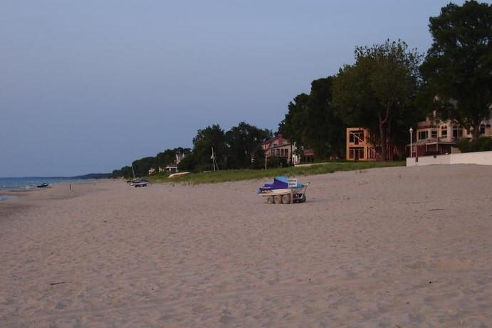 A view of Long Beach, Indiana on Lake Michigan.