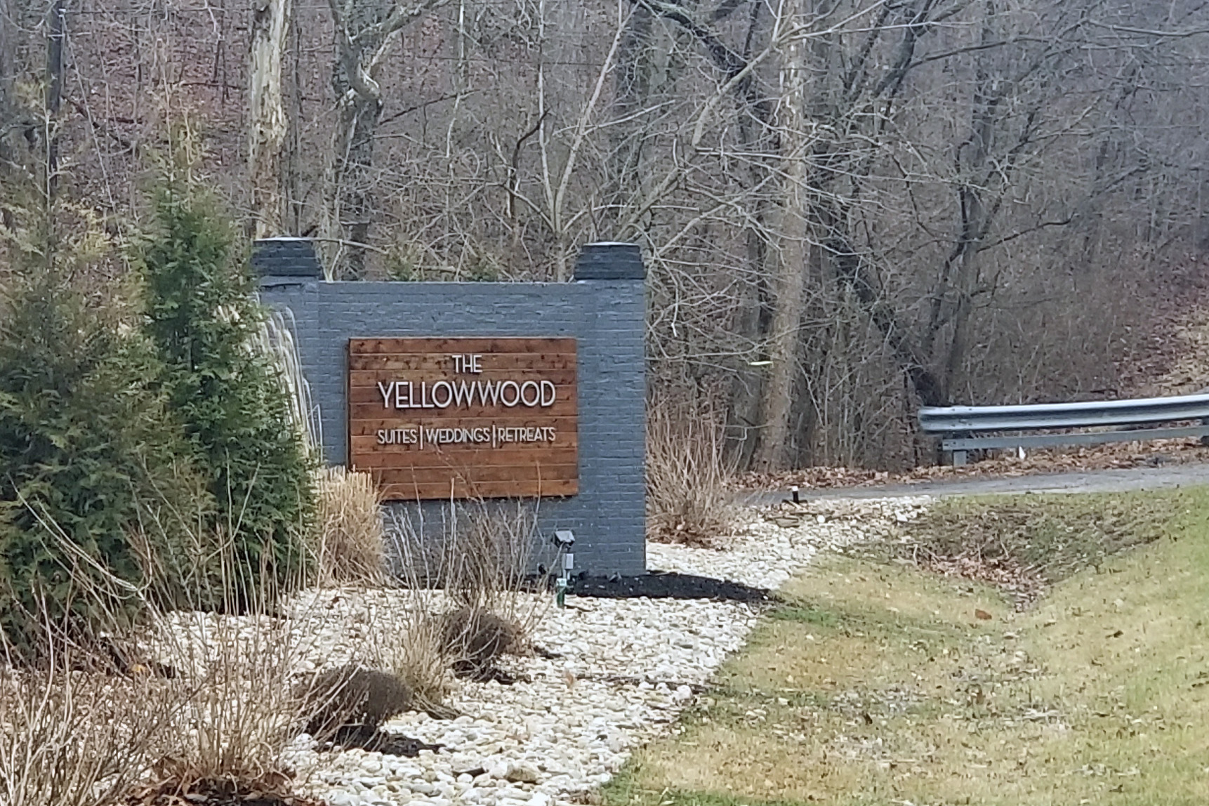 A sign for The Yellowwood hotel