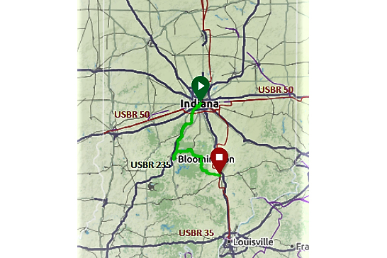 Us Bike Route To Add New Sections Through South Central Indiana - Us-bicycle-route-50-map
