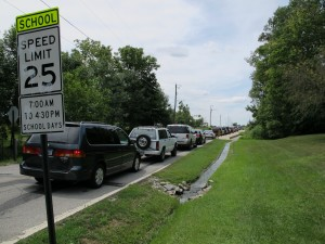 Cars were moving at speeds well below the school zone limit near Franklin Township Middle School East back in August 2011, after steep busing fees impelled many parents to drive their kids to school. School officials began charging the fee after property tax caps cut off revenue from the district's transportation fund.