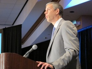 U.S. Secretary of Education Arne Duncan speaks in Gary in 2011.