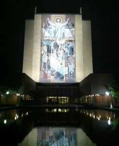 Indiana's most famous private university, Notre Dame in South Bend.
