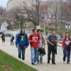 Students on Indiana University's Bloomington campus.