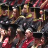 Graduates at Indiana University's winter commencement ceremonies at Assembly Hall in Bloomington.