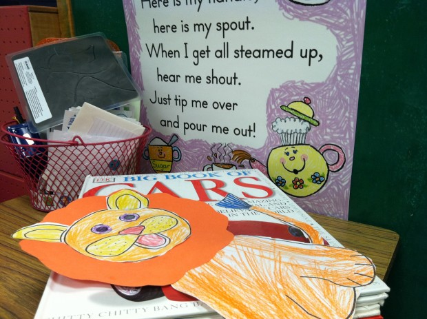 A craft project created by Pre-K students at Penny Lane West School in Bloomington.