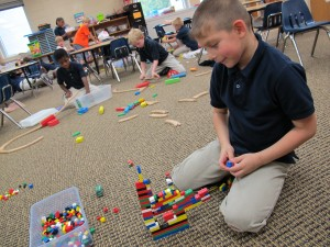 A student plays with Legos at Christel House Academy, a charter school on Indianapolis' south side.
