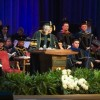 A photo from Twitter of Purdue University's 2012 spring commencement ceremonies.