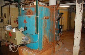 A decades-old steam heater in the basement of Harrison Hill Elementary is slated for replacement if voters in the Fort Wayne Community School District pass a $119 million construction referendum.