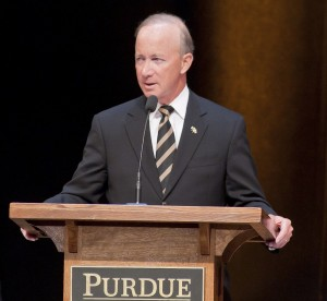 Gov. Mitch Daniels, soon to be Purdue's 12th president.