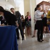 College students register for a job fair in New York City on Sept. 7, 2012.