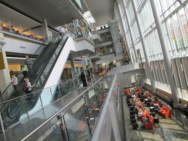 The Campus Center at IUPUI's downtown Indianapolis campus. (Kyle Stokes)