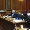 Sen. Randy Head (left, at podium) presents his legislation to members of the autism study committee Wednesday.
