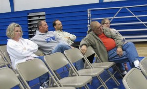 Only a handful of people attended a public meeting to discuss the referendum on Oct. 17, 2012. Hamilton Superintendent Jon Willman says he's not surprised turnout was low because the district has already hosted several information session.