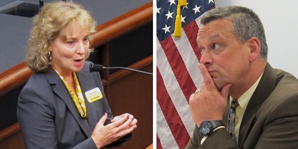 State superintendent candidate Glenda Ritz and incumbent Tony Bennett.