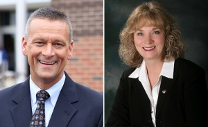 Superintendent of Public Instruction Tony Bennett, left, is running for reelection against Democrat Glenda Ritz.