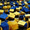 During the 2013–2014 school year, Indiana's four-year high school graduation rate was 87.9 percent. One year later, during the 2014-15 school year, the graduation rate was down to 87.1 percent. (Chris Moncus/Wikimedia)