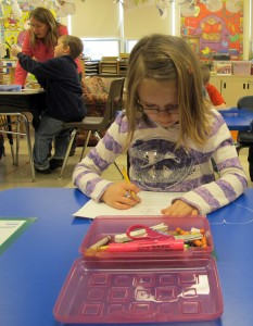 Kindergarten and first grade students are already using the Common Core in their classrooms.