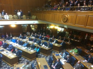 The Indiana House convenes for the 2013 legislative session.