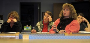 Rockville Elementary School parents listen as Principal Jeff Eslinger explains what the school is doing to improve its letter grade from the state. The school received a D for the 2011-12 school year.