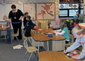 Kindergarten and first grade teachers in Indiana are already using Common Core academic standards in their classrooms.