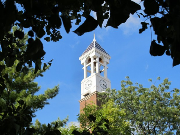 The Purdue Bell Tower on the West Lafayette campus.