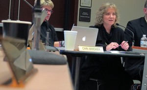 State superintendent Glenda Ritz chairs the February meeting of the State Board of Education.