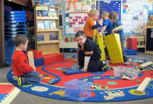 Head Start students play in their classroom at Eastview Elementary in Connersville.