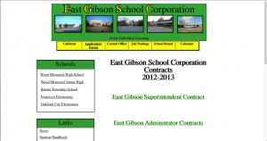 East Gibson School Corporation Supt. Mike Brewster says he didn't realize his contract wasn't online. His and other administrative contracts were posted last week.