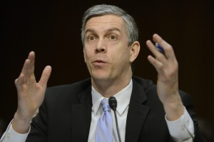 U.S. Secretary of Education Arne Duncan testifies before Congress. (Photo Credit: EPA/MICHAEL REYNOLDS/LANDOV)
