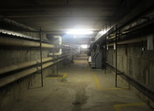 A series of underground tunnels beneath Snider High in Fort Wayne will give contractors renovating the school easy access to different parts of the building without having to mix with students and staff.