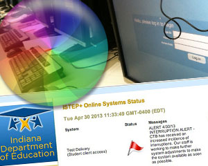 On April 29 and April 30, server issues at testing company CTB/McGraw Hill disrupted thousands of Indiana students' online ISTEP+ exams.