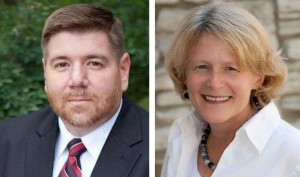 Gov. Mike Pence has appointed Brad Oliver (left) and Andrea Neal (right) to the State Board of Education. Not pictured are new appointees David Freitas and Troy Albert.