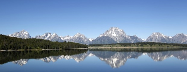 Grant Teton National Park in Western Wyoming.