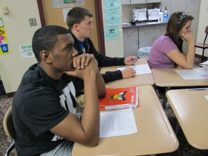 Students in the AP Statistics class at Ben Davis High School in Wayne Township.