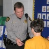 A school resource officer visits a classroom.