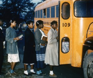 What time should high school students be getting on the bus in the morning?