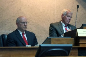 Sen. Dennis Kruse, R-Auburn, and Rep. Bob Behning, R-Indianapolis, are co-chairmen of the panel tasked with reviewing the Common Core education standards in Indiana.