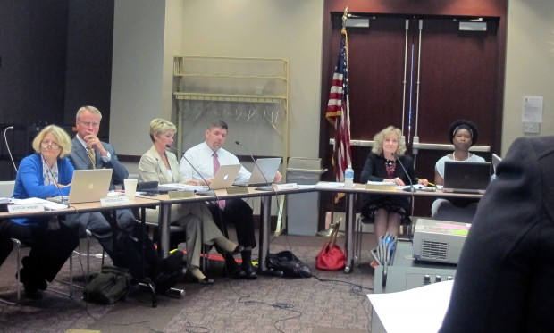 The State Board of Education listens to public testimony during its October meeting.