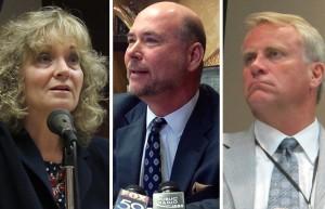 From left: State Superintendent Glenda Ritz, House Speaker Brian Bosma & State Board Secretary Dan Elsener.
